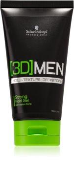 Schwarzkopf Professional [3D] MEN gel de cabelo fixação forte